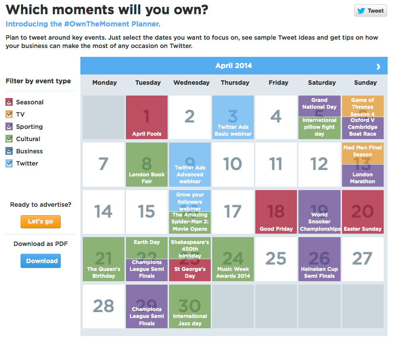 own the moment planner